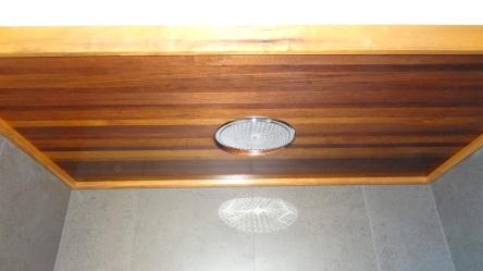 plafond de douche en Bété