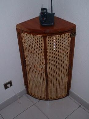 meuble d'angle en tamarin