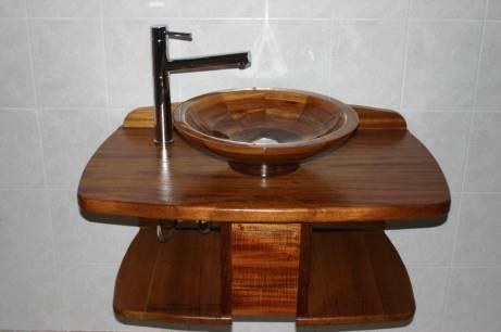 meuble vasque en iroko